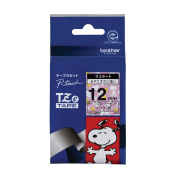 Brother TZe tape tape Snoopy (Snoopy pink / black) 12mm TZe-UP31