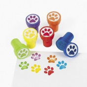 6 ~ Paw Stampers ~ Assorted Colours ~ Approx. 2.5cm ~ New / Shrink-wrapped