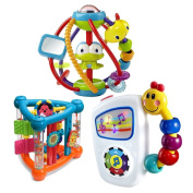 Baby Toys Activity Bundle with Activity Triangle, Clack & Slide Ball and Take Along Tunes