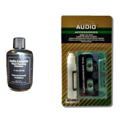 Cassette Tape Player Head & Capstan Cleaner Kit w/Extra Head Cleaning Solution