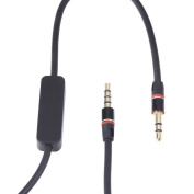 Black 3.5mm Audio Cable Lead Cord w/ MIC For Beats By Dr. Dre On-Ear Headphone