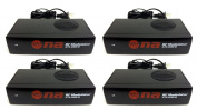 4 pack Universal RF Modulator RCA Audio Video to Coaxial Coax F With S Video