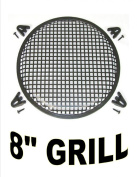 20cm INCH WAFFLE SPEAKER SUB WOOFER METAL GRILLS WITH CLIPS AND SCREWS DJ-CAR-HOME