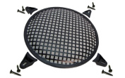 R/T 20cm Steel Waffle Speaker Grill with Mounting Brackets and Screws
