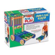 Personalised Chomp & Clack Alligator Push Toy