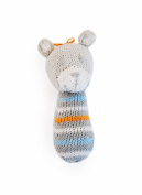 Finn + Emma Organic Cotton Baby Boys Mini Rattle - Bear