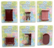DDI 1335562 Toy Wooden Furniture Red 6 House Styles Case Of 36