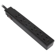 Inland SurgeGuard Basic 6 Outlet 201 Joules with 0.6m Cord - Black