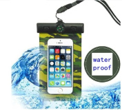 Unitewell New Waterproof Pouch Bag Case Cover with Compass Armband and Neck Strap for iPhone 5 5S 5C 4S 4G
