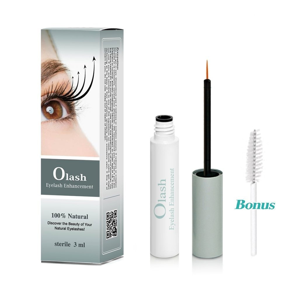 fc2695e5d13 Eyelash Growth Serum - How to Make Your Eyelashes Grow Longer & Thicker. Our  Lash Accelerator Conditioner Products Enhancers Regrowth to Grow Thick Long  ...