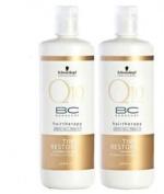 Schwarzkopf Q10 Time Restore Shampoo & Conditioner 980ml DUO W/pumps.