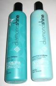 Diamond Shine Moisturing Shampoo 350ml + Diamond Shine Moisturising Conditioner 350ml - 2 Pc Set + FREE HAIR BRUSH!