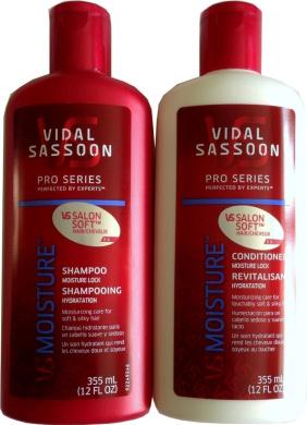 Vidal Sassoon Pro Series Moisture Lock Bundle: 350ml Shampoo and 350ml Conditioner