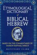 Etymological Dictionary of Biblical Hebrew