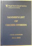 Sander's List of Orchid Hybrids 3 Years Addendum 2011-2013