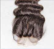 3 way part 4*4 Lace Front Top Closure Chinese Virgin Remy Hair Body Wave natural colour Can Be Dyed
