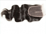 3 way part 4*4 Lace Front Top Closure European Virgin Remy Hair Body Wave natural colour Can Be Dyed