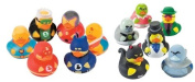 12 Rubber Ducks Superhero & Villian Bathtub Boy's Birthday Party Favours Cake Toppers