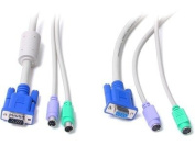 1.8m 3-IN-1 PS/2 KVM EXTENSION CABLE