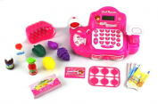 Ultimate Princess Pretend Play Battery Operated Toy Cash Register w/ Realistic Scanner w/ Flashing Lights, Sounds, Money, Credit Card, Groceries