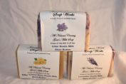 Jonathan Kent Goats Milk Soap, Saturated with Creamy Farm Fresh Goats Milk, with Shea Butter- Victorian Garden 3 BAR Sampler, Large 150ml Bar-lavender, Silky Yellow Rose, Lilac, Luxurious, Lingering Fragrance, and Invigorating
