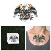 Eagle temporary tattoo