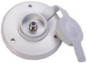 Outside Cable TV Hookup Plate - Colonial White - 476-B-1-A
