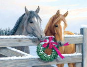 Hi-Look Microfiber Cleaning Cloth - Horses and Wreath