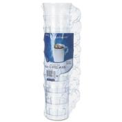 Classicware Plastic Coffee Mugs, 8 oz., Clear, 8 Mugs/Pack