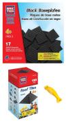 BRICTEK 19010 Black Roof Tiles and 19013 Black Baseplates Building Blocks. with Block Remover & 2 Figurines
