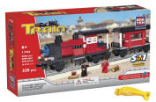 BRICTEK 11702 Locomotive with Waggon 5 in 1 Building Blocks 335pcs. with Block Remover