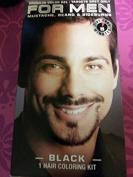 For Men Moustache, Beard & Sideburns 5 Minute Colour- Black Targets Grey Hair