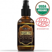 ORGANIC Argan Oil For Hair & Face - 100% Pure & ECO Certified Organic - Larger 120ml Bottle - Miracle Oil For Every Skin Condition, Hair, Nails, Anti-ageing & More! Pure Moroccan Argan Oil.