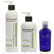 RemySoft Moisturelab System - Safe for Hair Extensions, Weaves and Wigs - Salon Formula Shampoo, Conditioner & Serum - Gentle Sulphate-free Lather