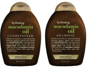 Organix Hydrating Macadamia Oil Shampoo and Conditioner Set -- 380ml by Organix [Beauty]