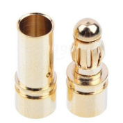 Water & Wood 10 Pairs 3.5mm Gold-plated Bullet Banana Plug Connector RC Battery