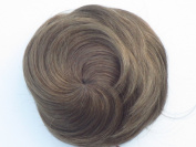 "SUPER BUN - BIG STYLED 30% LARGER ""AIRLINE STEWARDESS"" BUN - 60's LOOK - MEDIUM LIGHT BROWN"