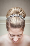 "SUPER BUN - BIG STYLED 30% LARGER ""AIRLINE STEWARDESS"" BUN - 60's LOOK - IN ASH BLONDE MIX"