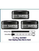3 X 75 G. Gatsby Hair Styling WAX MAT & Hard From Japan for MEN Amazing of Thailand ( by abobon )best sellers