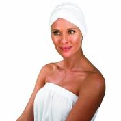 Betty Dain Jersey Turban, White