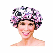 Betty Dain Boudoir Shower Cap, Parisian Print/Light Pink Terry Lining