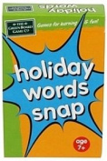 Holiday Words Snap Card Game