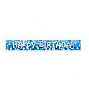 Happy Birthday Foil Banner - 2.7m