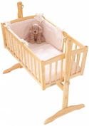 Honeycomb Rocking Crib Bedding Set - CREAM