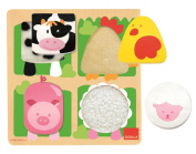 Wooden Farm Fabric Puzzle
