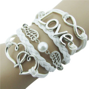 ZPS Cute Sweet Lovely Leather Bracelet for Women Girls