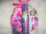 Bath & Body Works London Tulips & Raspberry Tea Lg Gift Set Lotion Mist Wash