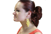 SCRUNCHIE HAIR EXTENSION BURGUNDY RED MIX FULLER SCRUNCHIE UP DOWN DO SUPER SPIKY TWISTER