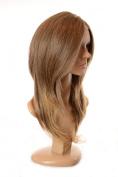 Long Wavy Layered Human Hair Blend Lace Front Wig   Tamera Wig