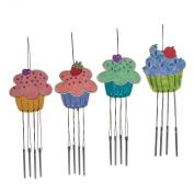 1 Dozen - Wood Colour Your Own Cupcake Windchimes